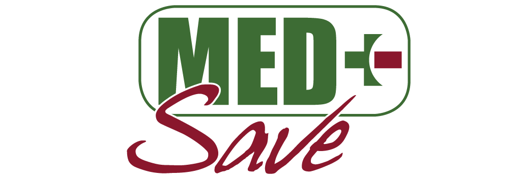 Med Save at Weedle Pharmacy logo design