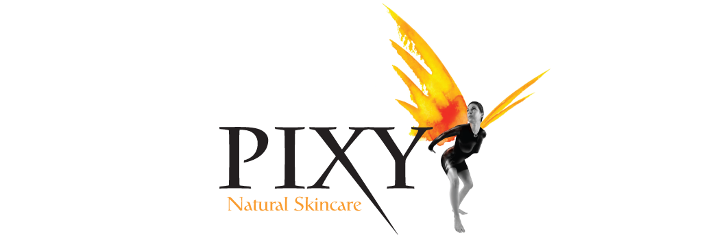 Pixy Natural Skincare logo design