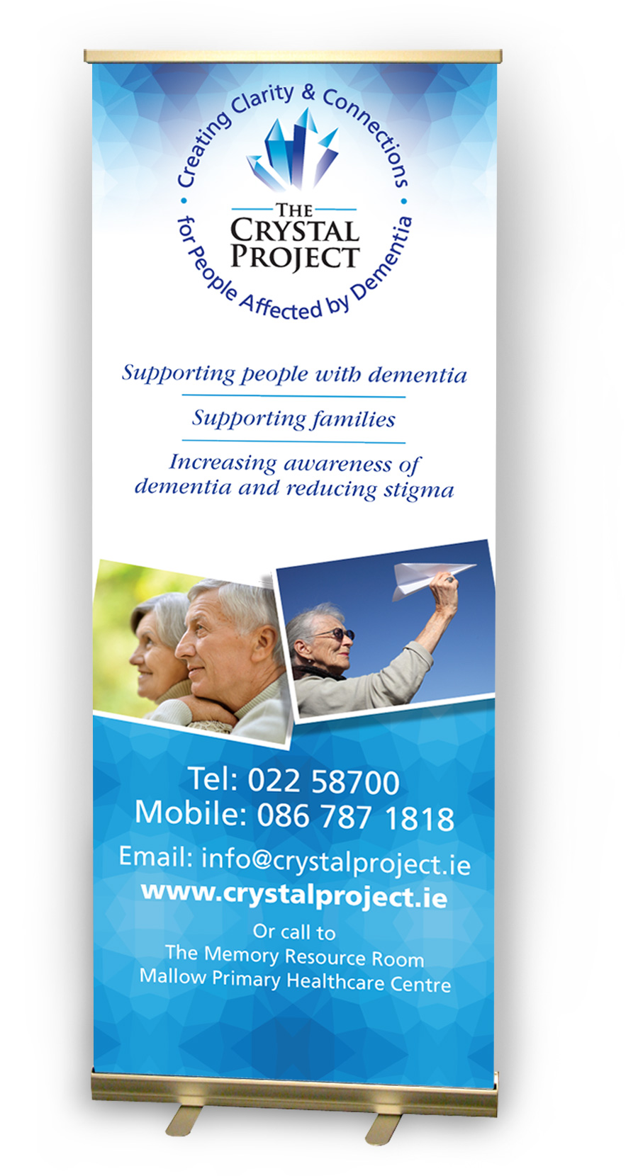 The Crystal Project Pull-Up Banner Design