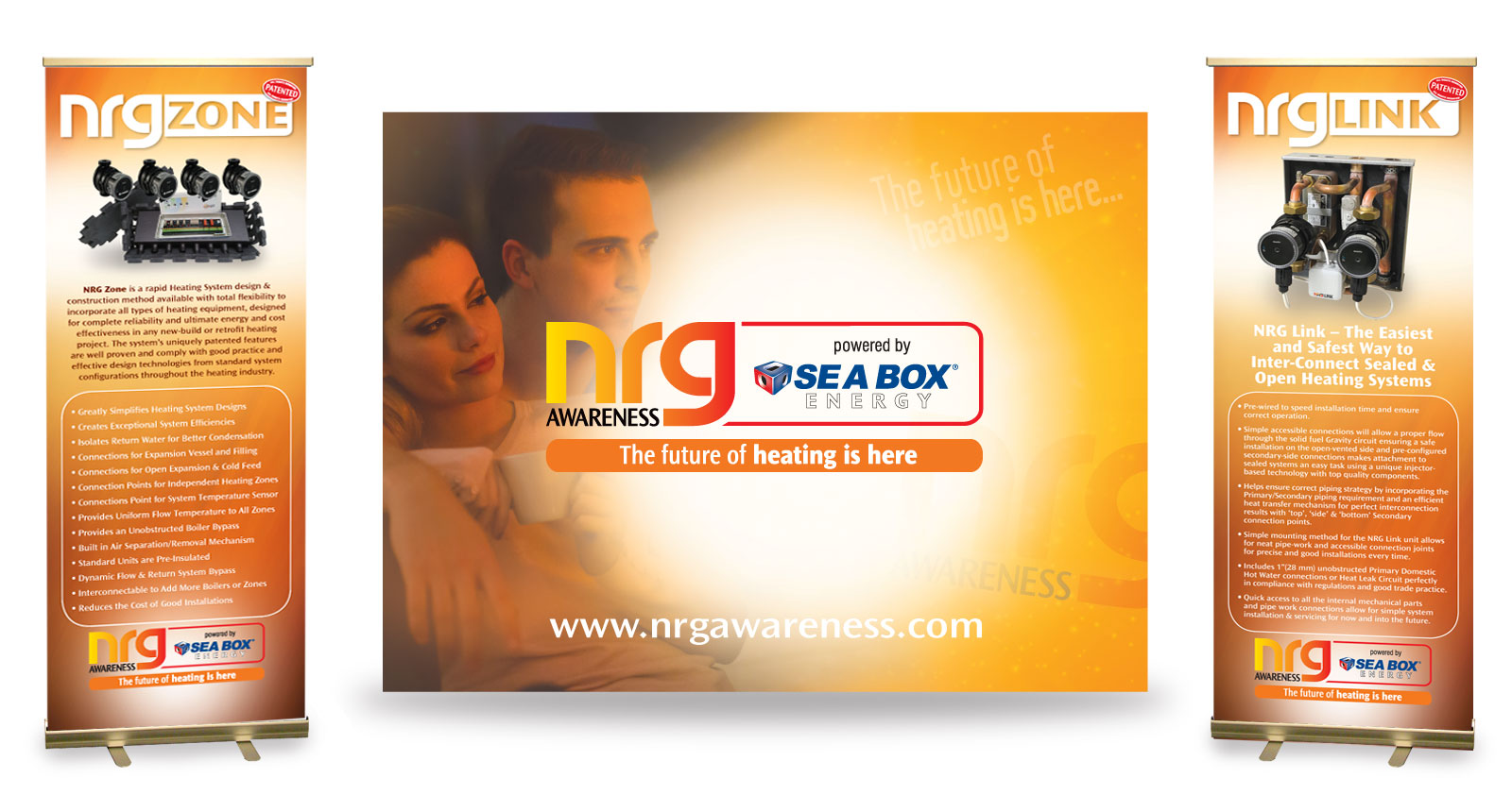NRG Awareness Powered by Sea Box Exhibition and Pull Up Stands