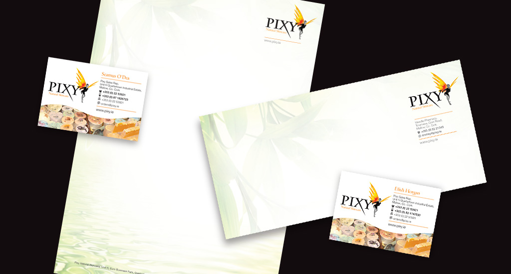 Pixy Skincare Stationery Design