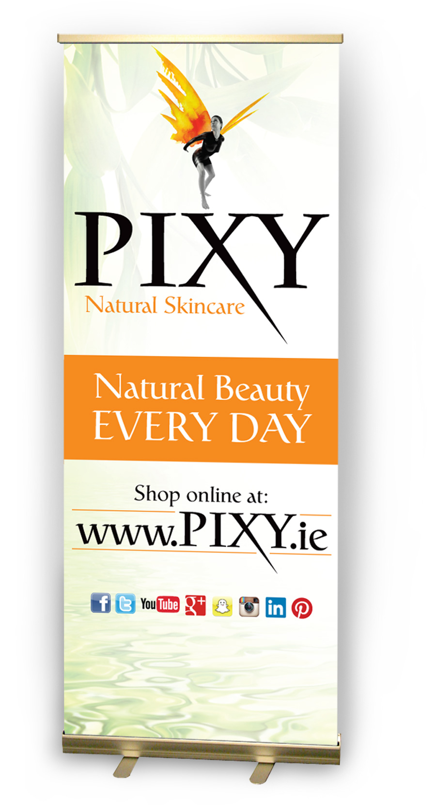 Pixy Natural Skincare Pull-Up Banner Design