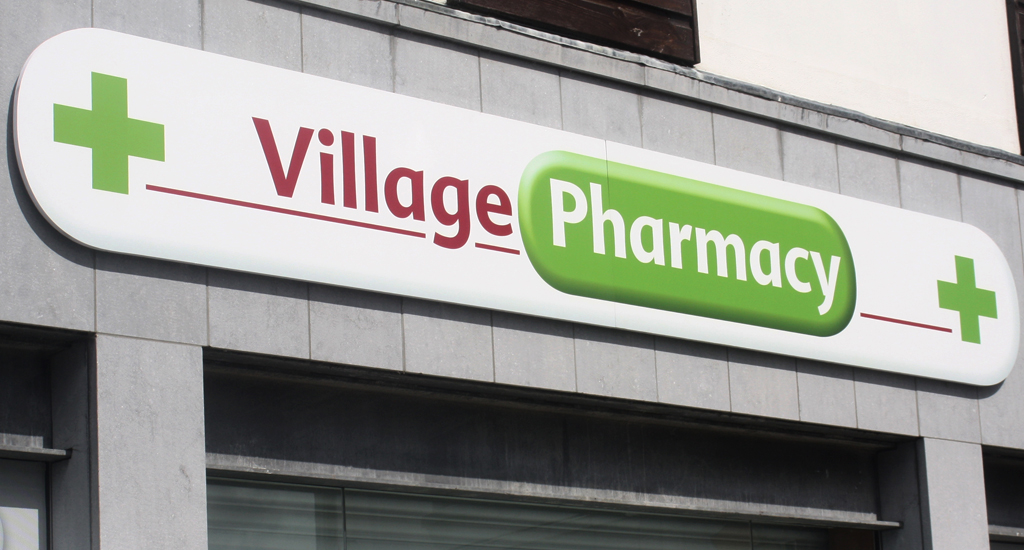 Village Pharmacy in Adare Shop Signage Design