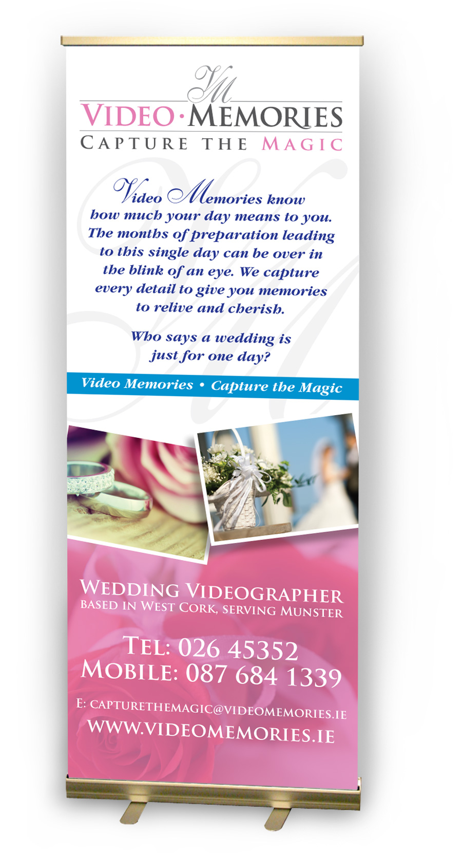 Video Memories Pull-Up Banner Design