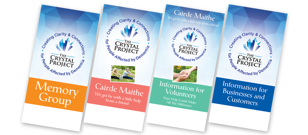 The Crystal Project leaflet designs