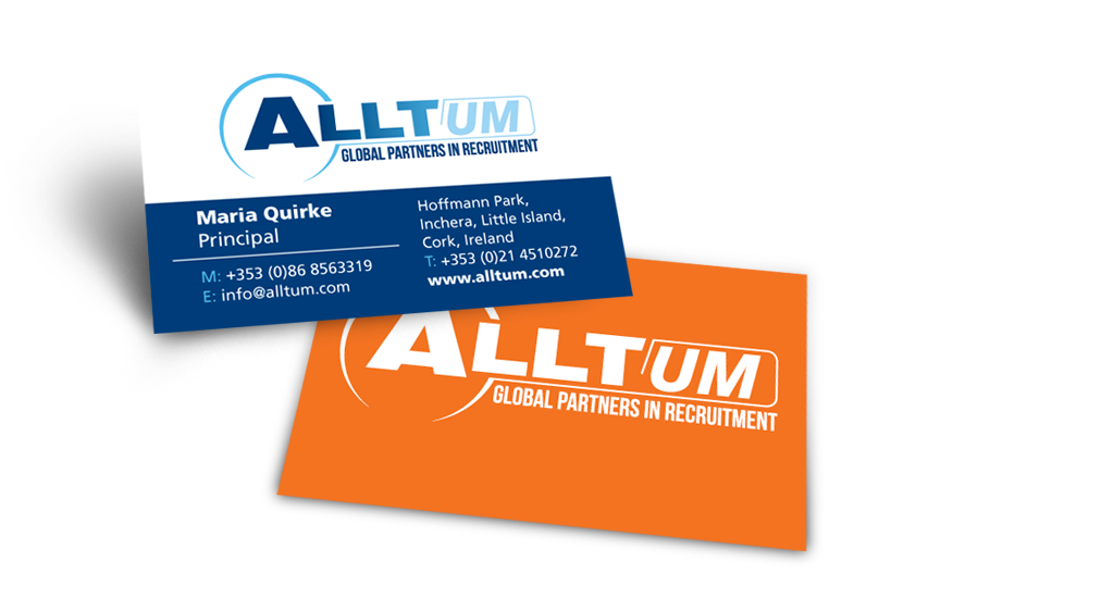 Alltum Recruitment Business Card Design