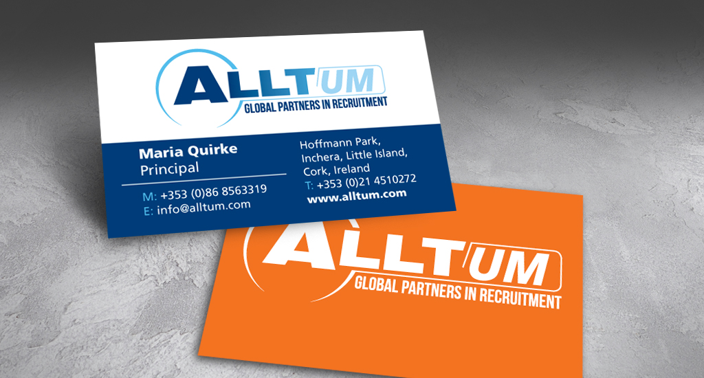 Alltum Recruiting Business Card Design