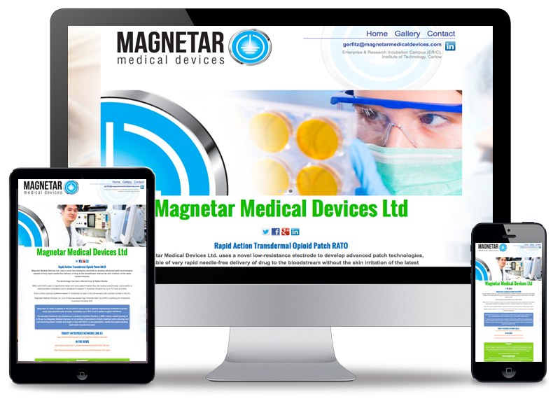 Magnetar Micro Website Screen