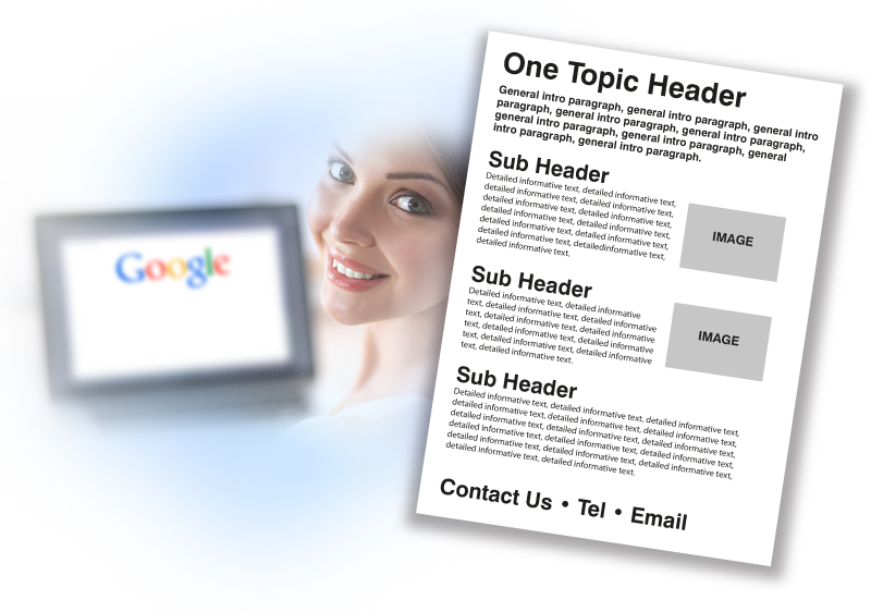 One Topic for One Page when Writing Website Content