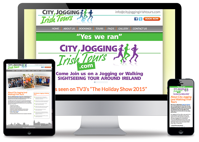 City Jogging Irish Tours Branding Including Logo Design, Signage and Website