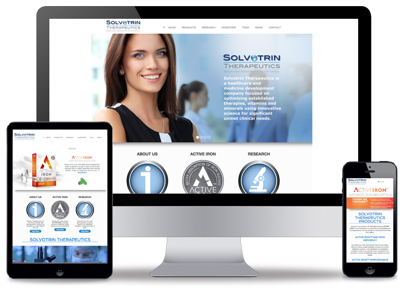 Solvotrin Therapeutics Logo and Website Design